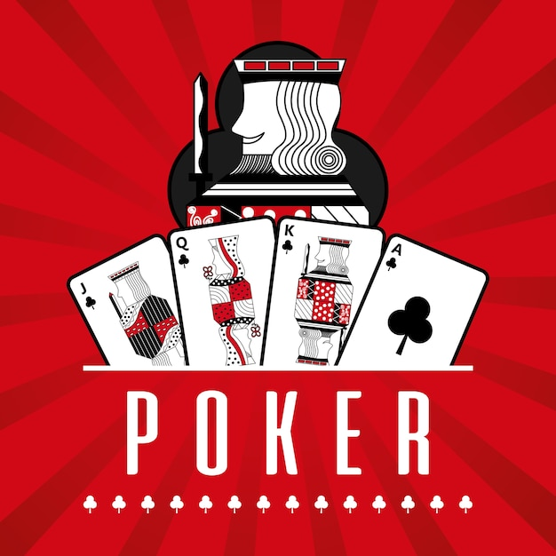 Premium Vector Deck Of Card Casino Poker King Clubs Red Rays Background