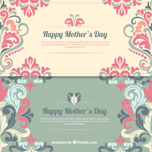 Decorated Happy Mother\'s Day banners