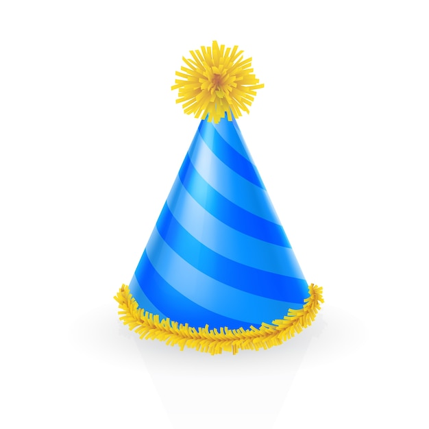 Decorated party hat Free Vector