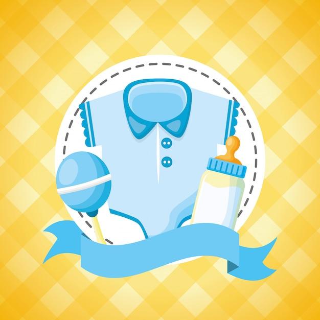 Decorazione per carta dell'acquazzone di bambino Vettore gratuito