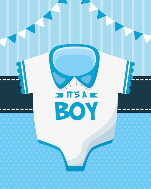 Decoration for baby shower Free Vector