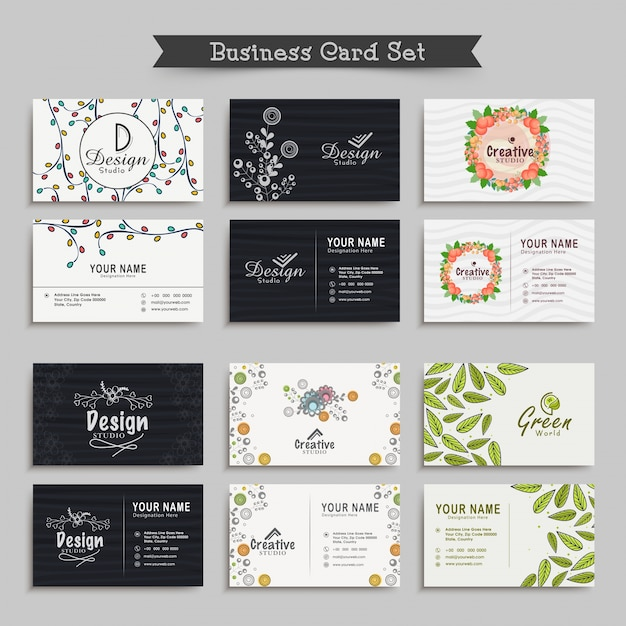 Decoration blank business card template workshop vector premium decoration blank business card template workshop premium vector junglespirit Gallery