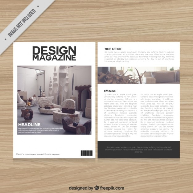 Decoration Magazine Template Free Vector