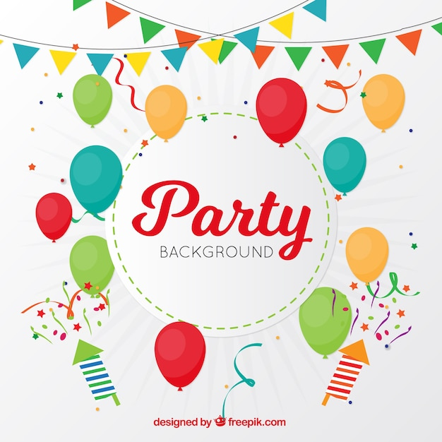 Decoration Party Background Vector