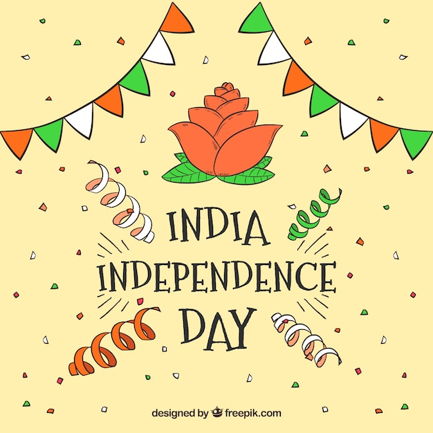 Decoration sketches background of india independence