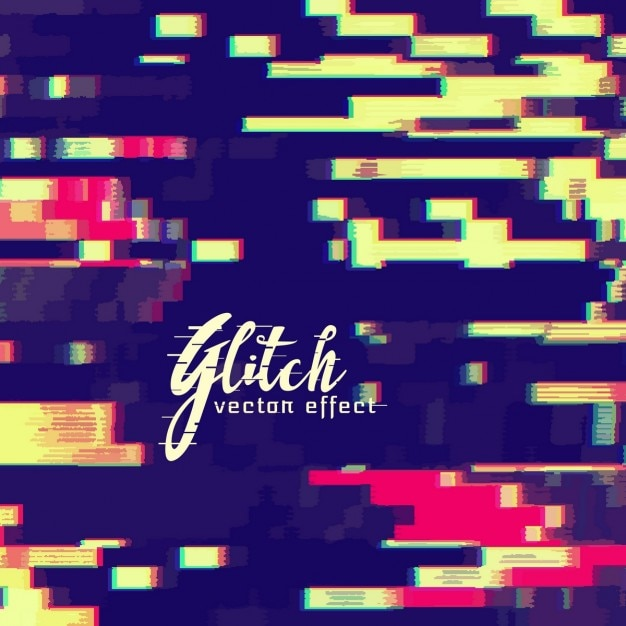 Decorative abstract background, glitch effect Vector   Free