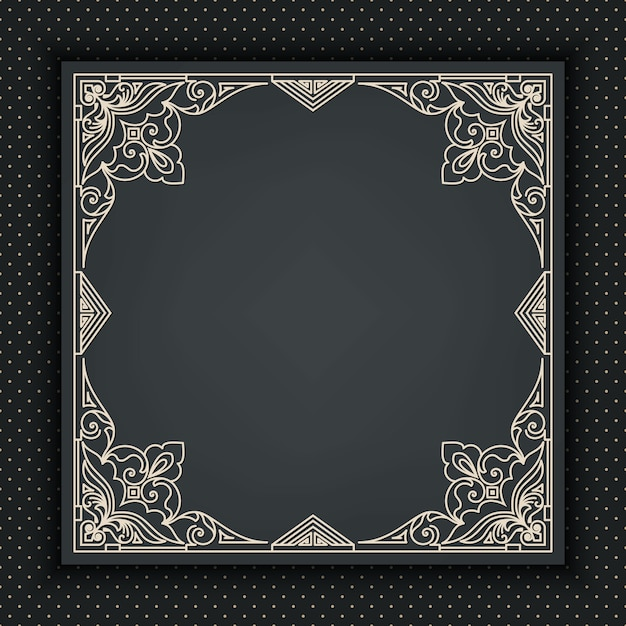 Decorative abstract frame Free Vector