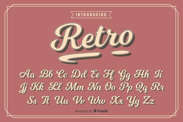 装飾的なアルファベットのテンプレートレトロなスタイル Premiumベクター