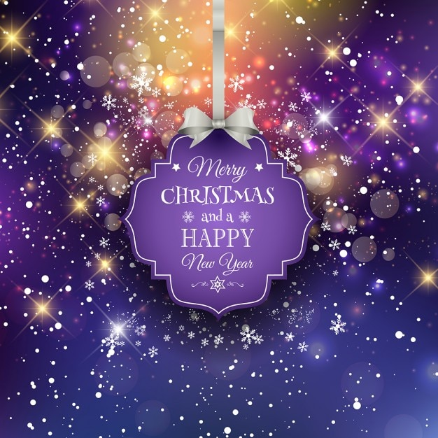 Decorative background for christmas and the new year Free Vector