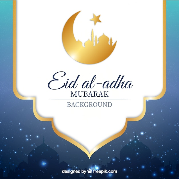 Decorative Background Of Eid Al-adha Vector