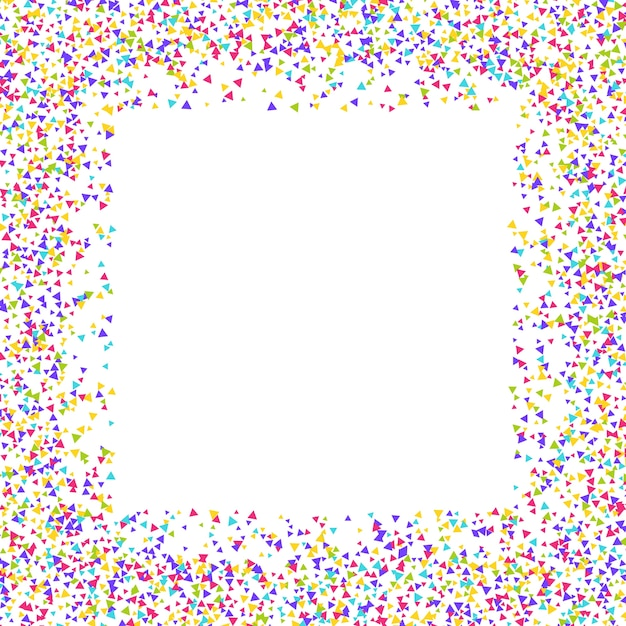 Decorative background with a confetti border Free Vector