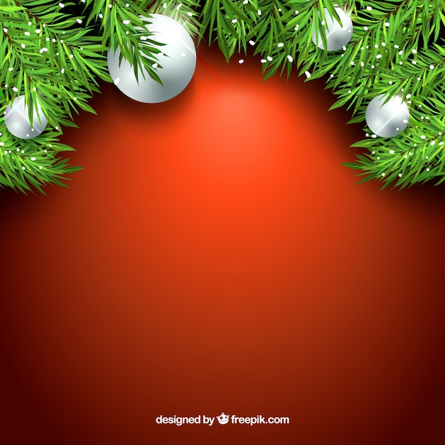Decorative background with christmas\ balls