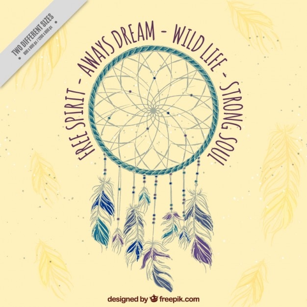 Decorative Background With Dreamcatcher And Inspirational Words Gorgeous Dream Catcher Words
