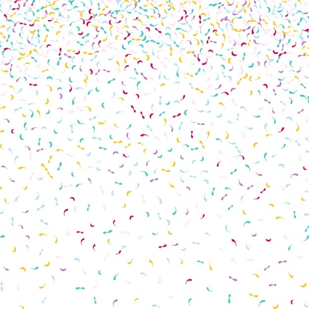 decorative background with falling confetti vector | free download