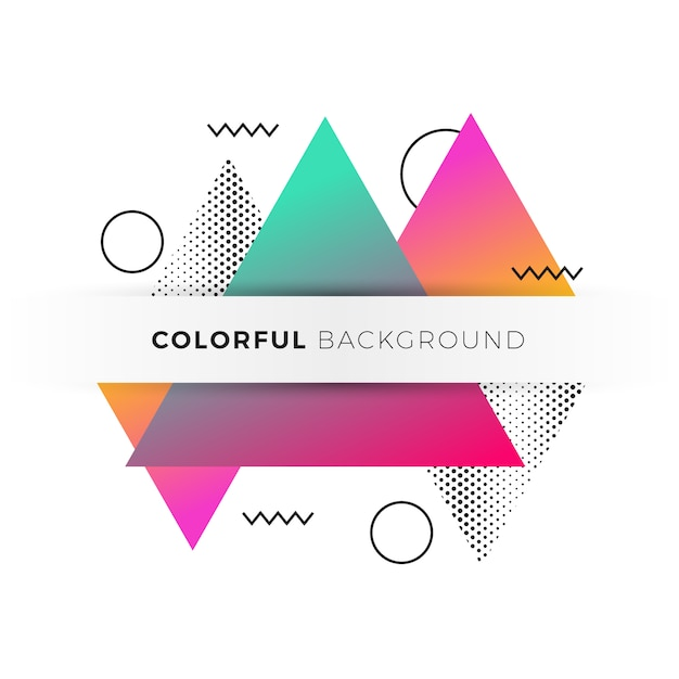 Decorative background with modern forms Free Vector