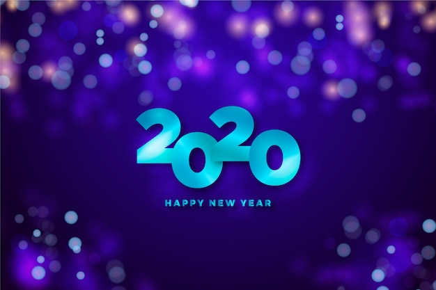 Decorative background with new year date Free Vector