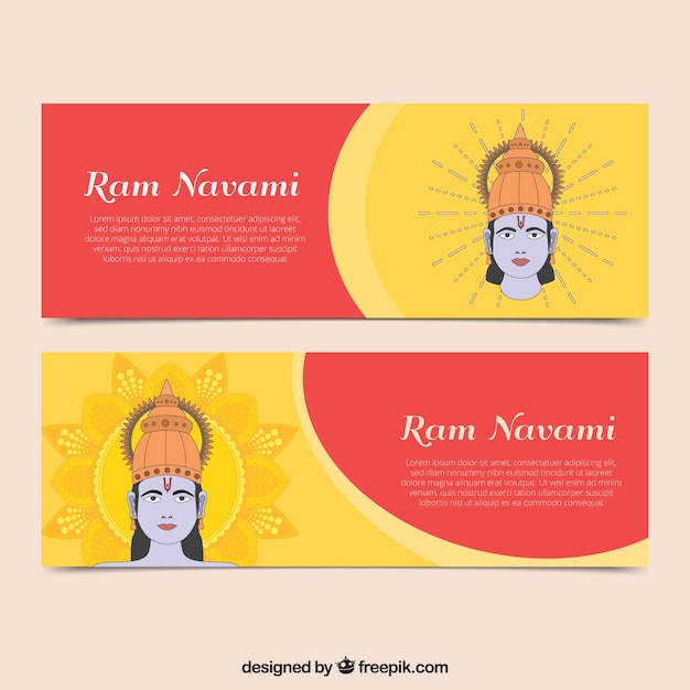 Decorative banners of ram navami