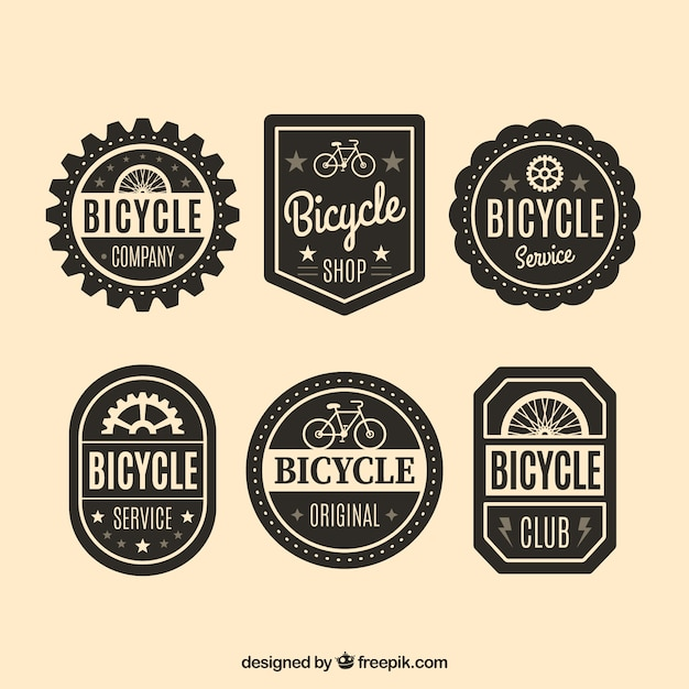Decorative bicycle badges in vintage\ style