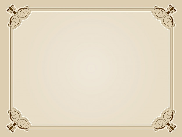 Decorative Blank Certificate Vector  Free Download