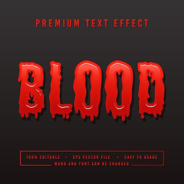 装飾的な血のフォント Premiumベクター