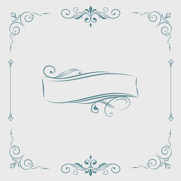 Decorative calligraphic ornament banner vector Free Vector