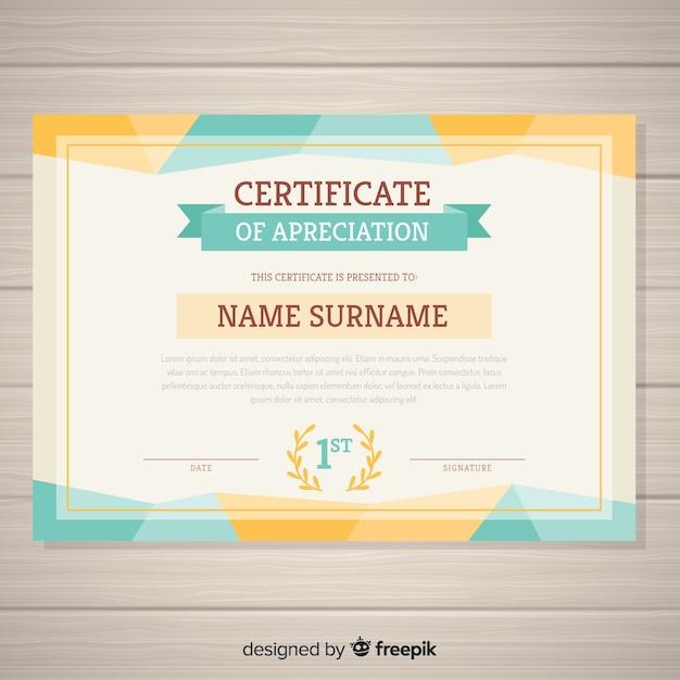 Decorative certificate template Free Vector