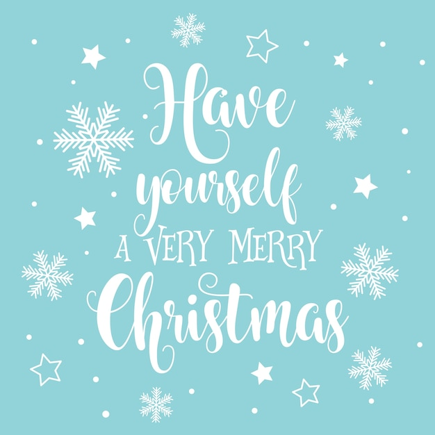 Decorative Christmas and New Year text background