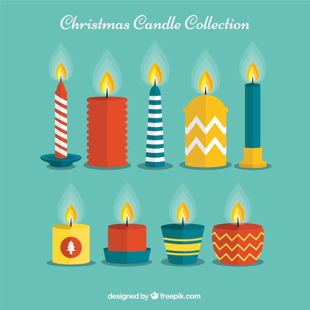 Decorative christmas candle collection