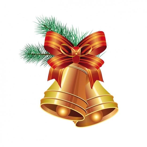 Decorative christmas element design Free Vector