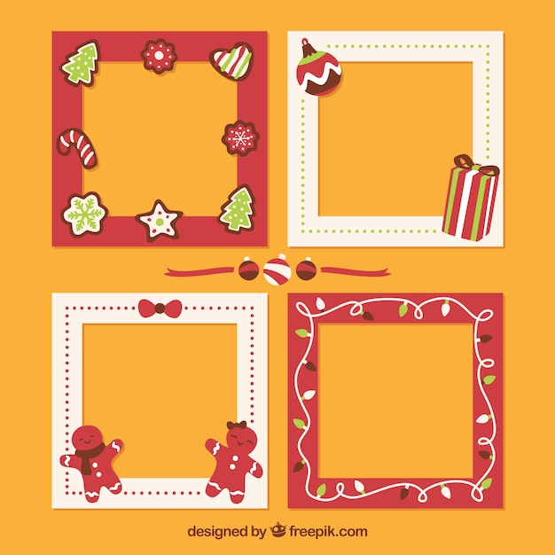 Decorative christmas frames set