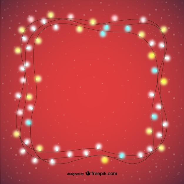 Decorative Christmas Lights Vector