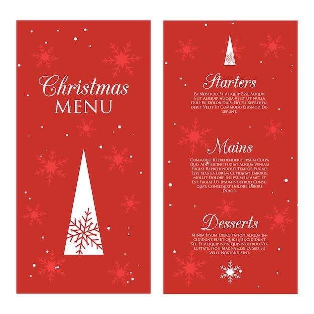 Decorative christmas menu Premium Vector