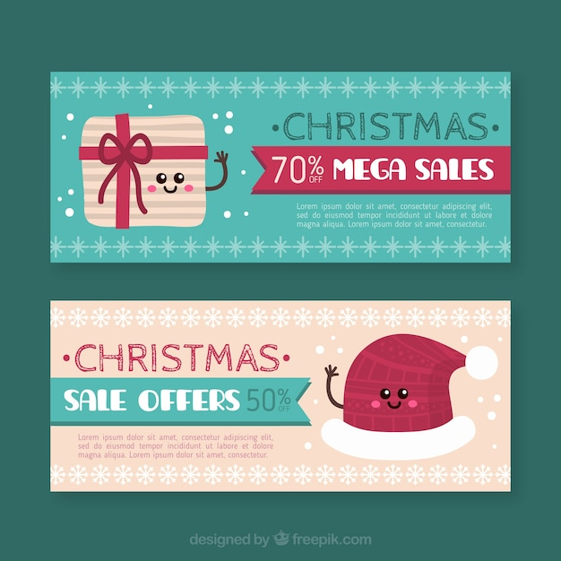 Decorative christmas sales banners