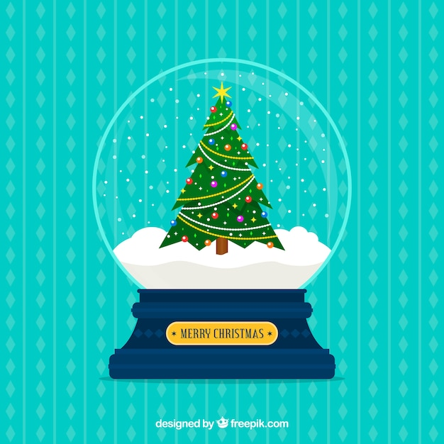 Decorative christmas snowball Free Vector