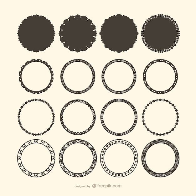 Decorative circle frame vectors Vector | Free Download