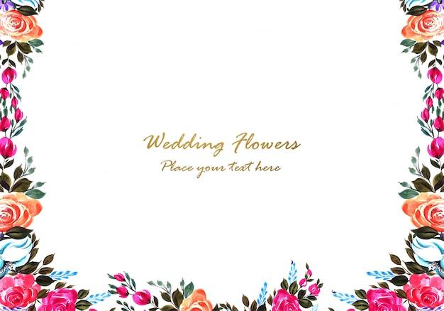Decorative colorful floral frame design Free Vector