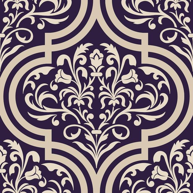 Decorative damask illustration Free Vector
