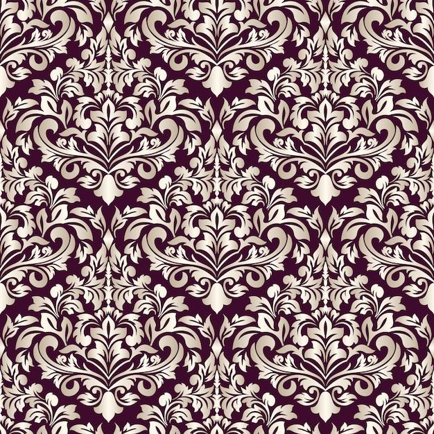Decorative damask pattern Free Vector
