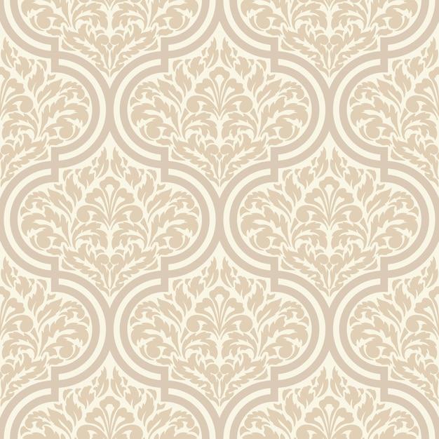 Decorative damask seamless pattern Free Vector