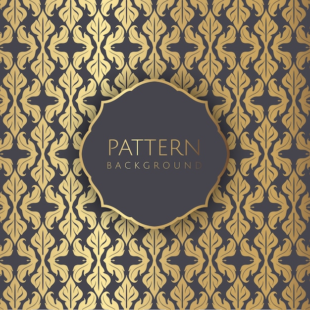Decorative damask style seamless pattern wallpaoer Free Vector