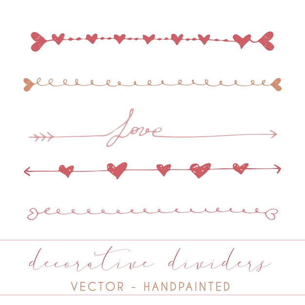 Decorative dividers collection Free Vector