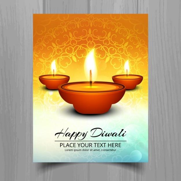 Decorative diwali greeting Free Vector