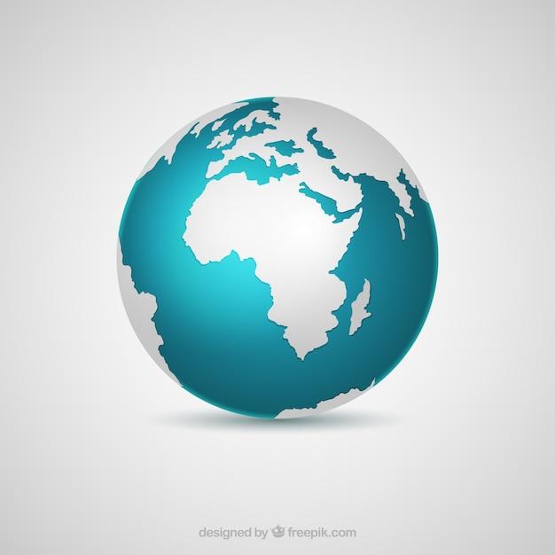 Terra decorativo globo in design realistico Vettore gratuito