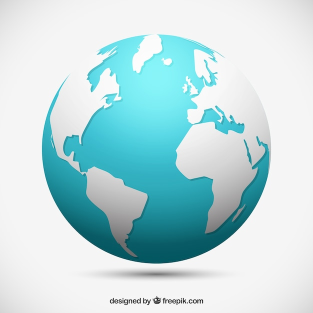 Decorative earth globe Free Vector