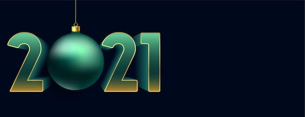 Декоративный элегантный новый год на синем фоне Бесплатные векторы