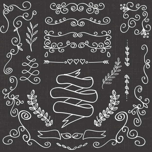 Decorative elements collection Free Vector