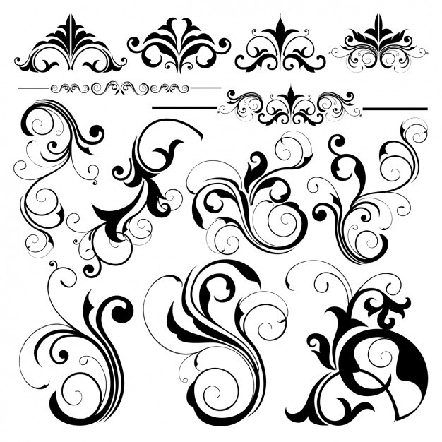 Decorative elements collection Premium Vector