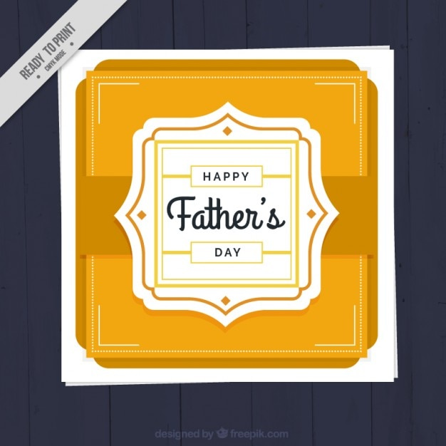 Decorative father\'s day card