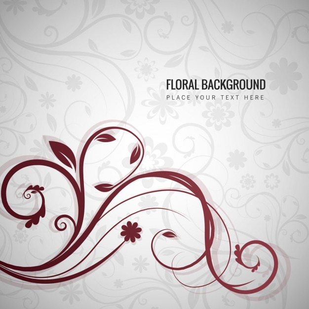 Decorative floral background vector free download for Background decoration images