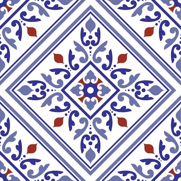 Decorative floral background Premium Vector